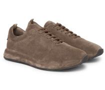 Race 17 Suede Sneakers - Brown