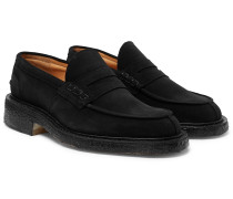 James Suede Penny Loafers