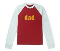 Printed Colour-Block Cotton-Jersey T-Shirt