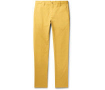 Noah Garment-Dyed Stretch-Cotton Chinos