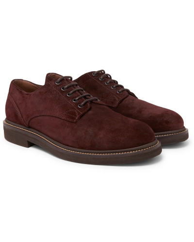 Brushed-suede Derby Shoes
