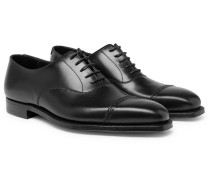 Charles Cap-toe Leather Oxford Shoes - Black