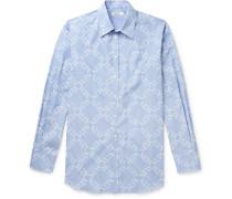 Logo-Print Striped Cotton-Poplin Shirt