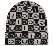 Logo-Jacquard Wool Beanie