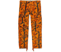 Aviation Slim-Fit Camouflage-Print Cotton-Ripstop Cargo Trousers
