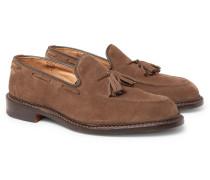 Elton Suede Tasselled Loafers - Light brown