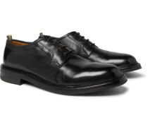 Leeds Polished-leather Derby Shoes - Black