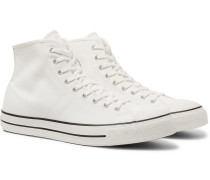 Lucky Star Canvas High-top Sneakers - White