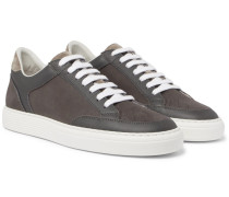 Urano Full-grain Leather-trimmed Nubuck Sneakers