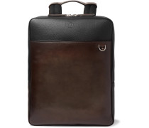 Contraste Colour-Block Leather Backpack