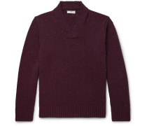 Shawl-Collar Donegal Merino Wool and Cashmere-Blend Sweater