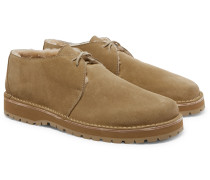 Carpenter Shearling-Lined Suede Desert Boots