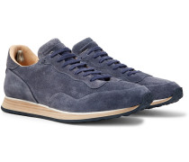 Keino Perforated Suede Sneakers