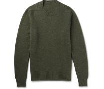 Shetland Wool Sweater - Army green