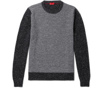 Slim-fit Striped Cashmere-blend Sweater