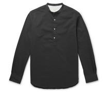 Auguste Slim-fit Grandad-collar Seersucker Shirt