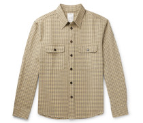 Handyman Checked Cotton and Linen-Blend Shirt