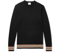 Striped Merino Wool Sweater - Black