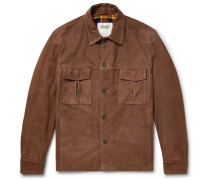 Suede Shirt Jacket - Brown