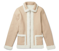 Reversible Shearling Jacket - Beige