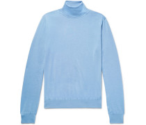 Cashmere And Mulberry Silk-blend Rollneck Sweater