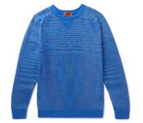 Cotton-blend Sweater - Blue