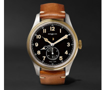 1858 Automatic 44mm Stainless Steel And Leather Watch