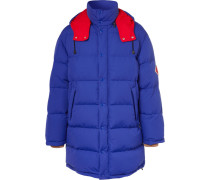Logo-appliquéd Nylon Quilted Down Jacket