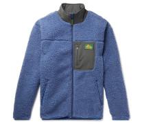 Shell-Trimmed Fleece Jacket