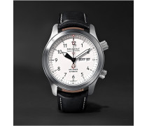 Mb Ii 43mm Stainless Steel And Leather Watch - White