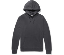 Loopback Cotton-jersey Hoodie - Dark gray