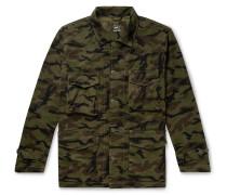 Woodland Camouflage-Print Cotton Field Jacket