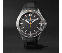 Clifton Club Automatic 42mm Stainless Steel And Vulcanised Rubber Watch - Black