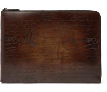 Gloria Scritto Leather Pouch