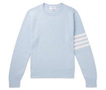 Striped Cotton Sweater - Sky blue