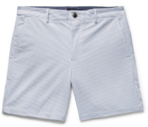 Baxter Slim-fit Striped Stretch-cotton Seersucker Shorts