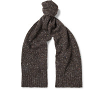 Donegal Virgin Wool And Cashmere-blend Scarf - Brown