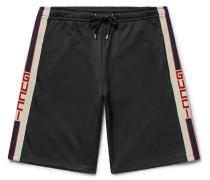 Webbing-trimmed Tech-jersey Shorts