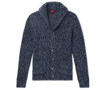 Slim-fit Shawl-collar Mélange Alpaca-blend Cardigan