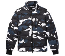 Camouflage-print Quilted Shell Down Jacket