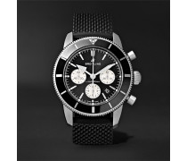 Superocean Héritage Ii B01 Chronometer 44mm Stainless Steel And Rubber Watch - Black