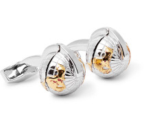 Silver, Gold And Rhodium-plated Cufflinks - Silver