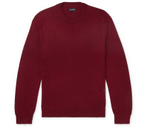 Slim-fit Merino Wool Sweater - Red