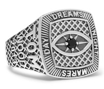 Champion Sterling Silver Crystal Ring