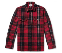 Checked Wool-blend Overshirt