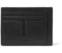 Timeless Cross-grain Leather Cardholder - Black