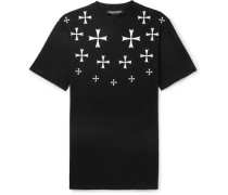 Slim-fit Printed Stretch Cotton-jersey T-shirt