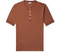 Karl Heinz Slim-fit Cotton-jersey Henley T-shirt