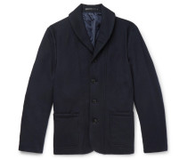 Slim-fit Shawl-collar Cashmere Jacket