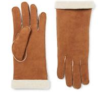 Shearling Gloves - Tan